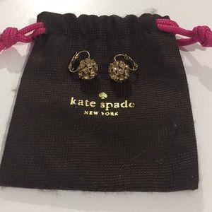 Kate Spade 12K Gold Plated Crystal Ball Earrings